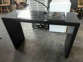 Black glass top console table ...delivery can be arranged if required...120 x 40 x 80 cm high