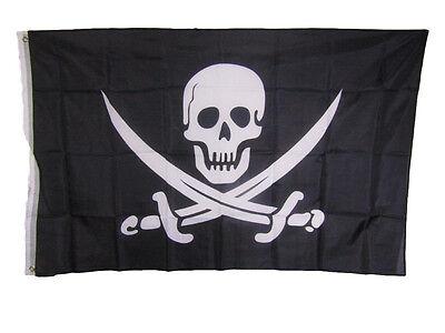 3x5 Jolly Roger Pirate Calico Jack Rackham Flag 3'x5' Banner