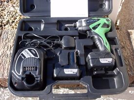 **Reserved for Chaz****Hitachi 10.8v Cordless Impact Driver ***REDUCED to £50 for quick sale***