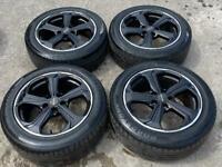 """18"""" Genuine VW Transporter Sportline Alloy Wheels & Tyres 5X120 T5 T6"""
