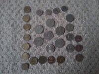 29 Russian coins. Ruble Kopeykan Plus 6 Ukrainian coins