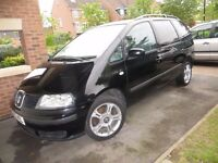 SEAT ALHAMBRA 1.9 TDI 2002 FOR SALE WITH MOT