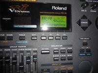 Roland TD10 V Drums module with TDW1 expansion