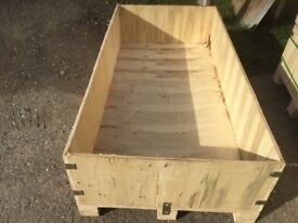 XL WOODEN STORAGE BOX/WHELPING/dog bed. L-65 inches, W-32.5 inches! H inside 13 outside 18 inches.