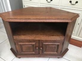 Brown wooden corner TV unit