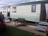 Static 2 berth caravan for sale on site or off site.
