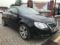 VW Eos 2008 Tdi DSG / Auto FSH low miles cheap car.