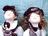 Porcelain Girl & Boy Dolls