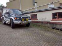 Mitsibushi Pajero 4x4 ,DIESEL 2.5 Auto j reg 91 No MOT..£650 good runner...Brand new Tyre