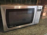 Panasonic Silver/Crome microwave
