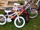 3 child's bikes
