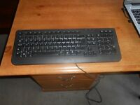 Dell keyboard , Colour monitor, wired mouse, web cam & bits