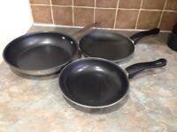 Three Non Stick Frying Pans