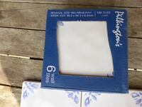 PILKINGTONS Blue & white ceramic tiles 10cmx10cm x 558 tiles