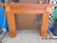 wood fire surround in good condition