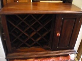 INDIAN SHEESHAM WOOD WINE CABINET