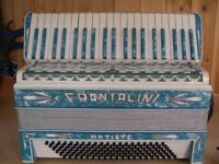 Front-line, Art Deco, 1930's, 4 Voice, Musette Tuned, 120 Bass, Piano Accordion.