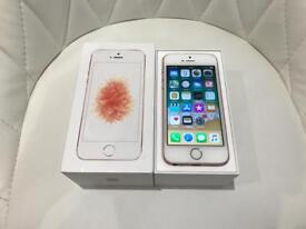 iPhone SE 16GB Rose Gold Unlocked Pristine Condition Immaculate Boxed with Genuine Charging Lead