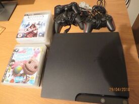 PLAYSTATION 3 160GB WITH 3 CONTROLLERS AND 13 GAMES