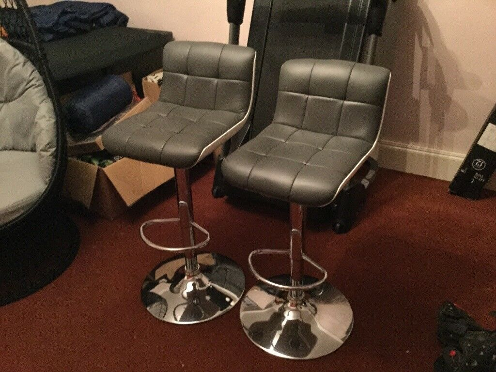 Grey bar stools