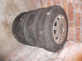 set of 4 wheels for golf mk 4