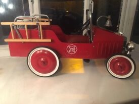Vintage style child's pedal fire truck