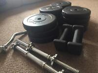 Weights and Bars (70kg total)