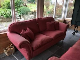 Laura Ashley Sofas for Sale. Three-seater and two-seater.
