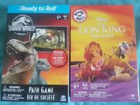 Disney The Lion King The Game & Jurassic Park (Board Games)