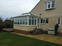 used white UPVC conservatory in good condition
