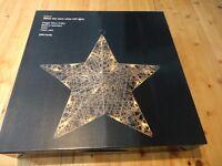 15 John Lewis Christmas/Wedding Decorations Glitter LED Rattan White Stars 50cm