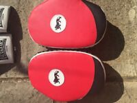 Boxing pads and gloves Lonsdale