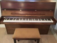 Welmar upright piano from 1984 (with stool) - tuned and serviced throughout its history