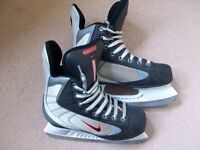 NIKE ICE SKATING BOOTS ADULT SIZE 5.5 BLACK,GREY,RED