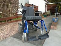 electric wheelchair. used but in reasonable condition