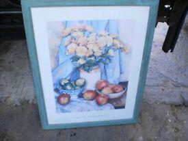 big floral pic in a big frame