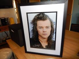 Hand Signed & Framed Harry Styles Picture - With COA