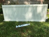 2 x Radiators & with Thermostat values