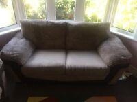 2x 3 seater (Milton DFS Sofa) Storage Footstall