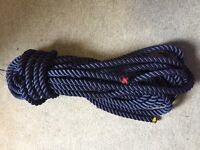 24 Metres of 3 strand polyester Navy Rope - 20mm Dia