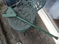 Old shooting stick / seat. Flip stick.