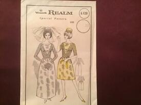 Vintage Women's Realm Bridle & Bridesmaids Pattern
