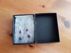 Amethyst Sterling Silver Ear Rings