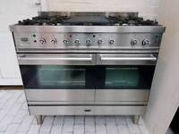 Britannia Dual Fuel Range Cooker with Hood 100CM Stainless Steel