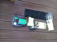 Selection of golfing items