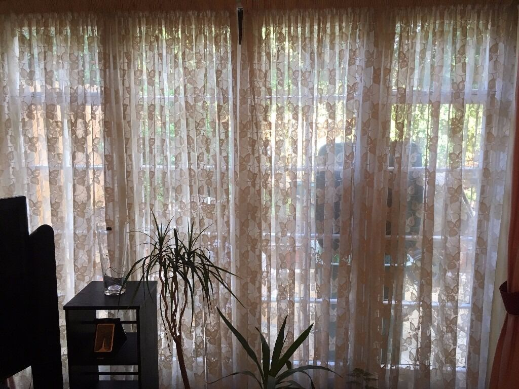Two Sets Of Net Curtains From John Lewis For Patio Door And Bay