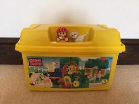 Mega Bloks box full with mega bloks