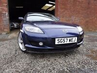 57 MAZDA RX-8 192 PS COUPE 1.3,MOTFEB 018,PART SERVICE HISTORY,2 KEYS,VERY LOW MILEAGE,STUNNING CAR