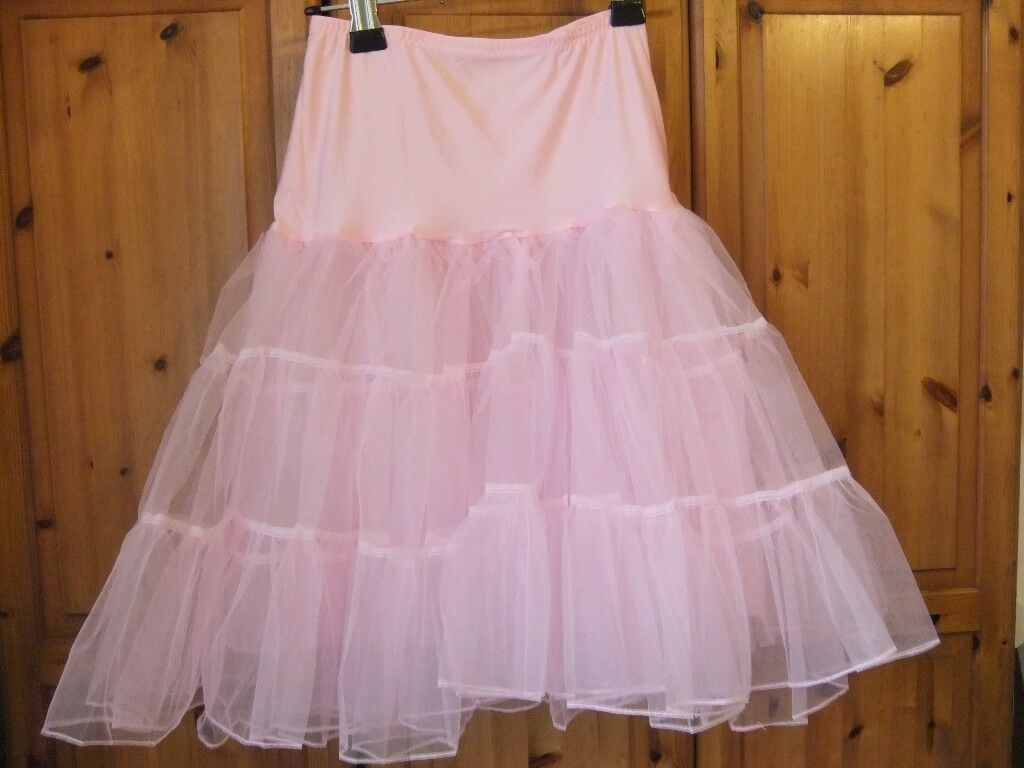 Rock-a-billy Pink Underskirt Brand New Size 8-12 Length 26 inches.