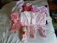 Baby Clothes 0-3 mth M&S/Mothercare/Next Some BNWT + Pack of 56 Pampers nappies